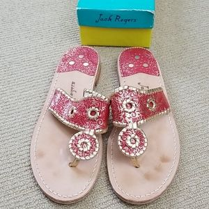 Jack Rogers red/gold